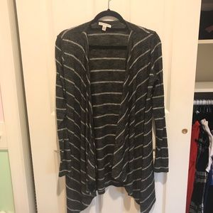 American Eagle striped flowy cardigan